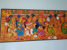 Kerala mural Kerala Mural Painting, Buddha Painting, Tanjore Painting, Painting Canvas, Indian Traditional Paintings, Indian Paintings, Art Forms Of India, Monkey Art, Madhubani Art
