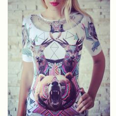 AZTEC ANIMAL dress available on: http://www.brzozowskafashion.com/ We ship all over the world!