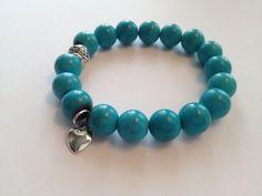 Gemstone & Heart Bracelet by SharonKrug on Etsy, $13.95