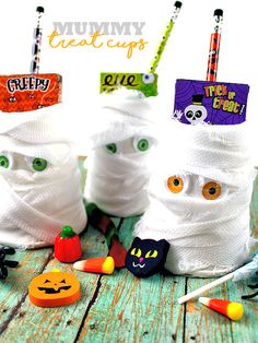 Mummy Treat Cups, Halloween Party Favor