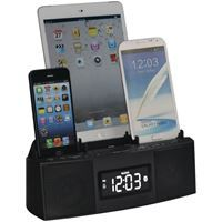 Show details for Dok 3port Smartphone Charger With Speakerphone Amp Alarm Clock