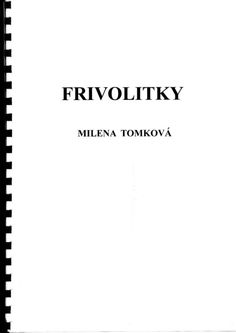Gallery.ru / Фото #2 - Tomkowa - mula Tatting, Math Equations, Books, Patterns, Block Prints, Libros, Bobbin Lace, Book, Needle Tatting
