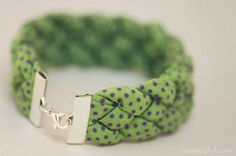 10 DIY bracelets with fabric and cords