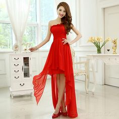 One Shoulder Asymmetry Lace-Up A-Line Bridesmaid Dress 3