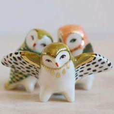 My Owl Barn: Danielle Pedersen: Small Wild Ceramic Clay, Porcelain Ceramics, Ceramic Pottery, Pottery Art, Ceramic Shop, Ceramic Owl, Slab Pottery, Thrown Pottery, Pottery Studio