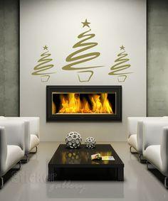 Χριστουγεννιατικες ιδεες διακοσμησης - Δεντράκια Χριστουγέννων - αυτοκόλλητα