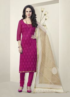 Pink Churidar Suit Wholesale Collection With Embroidered Work