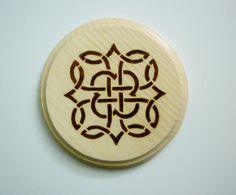 Wicca Celtic Knot Altar Tile Plague Woodburn by Witchstore on Etsy, $20.00