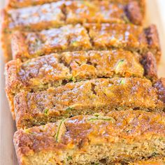 Grandma& Favorite Zucchini Bread is the best zucchini bread recipe of the season. There& a reason it& Grandma& favorite - it& moist and full of tasty spices. This zucchini bread recipe may be traditional, but it certainly isn& boring. Apple Banana Bread, Carrot Bread Recipe, Blueberry Zucchini Bread, Zucchini Banana Bread, Zucchini Bread Recipes, Zucchini Cake, Carrot Cake, Banana Recipes, Zuchinni Bread