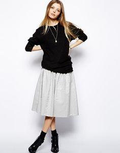 Immagine 1 diASOS Full Midi Skirt In Jacquard