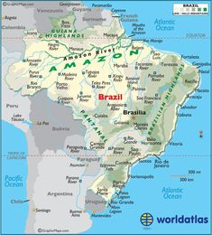 Map Of Brazil Description The Political Map Of Brazil Showing - Brazil large scale road map