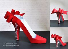 Crafting in the Night: 3D High Heel Shoe - SVGCuts.com