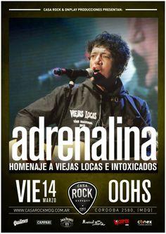 HOY 14/03 | 24hs.  Adrenalina Homenaje a Viejas Locas e Intoxicados  En Casa Rock (Córdoba 2580) Mar del Plata (BSAS) Entrá en el Blog de CGCWebRadio y enterate de todo!!! Twitter Seguinos en: @CGCWebRadio Argentina (https://twitter.com/CGCWebRadio) Facebook Hacete Fan en: /CGCWebRadio (https://www.facebook.com/CGCWebRadio)