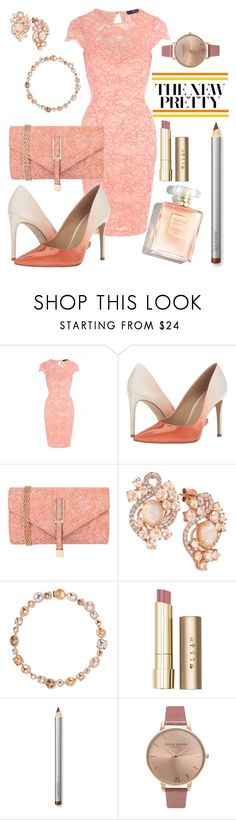 """Princess Peach"" by unicornsnot ❤ liked on Polyvore featuring Jane Norman, Massimo Matteo, JNB, LE VIAN, Larkspur & Hawk, Stila, Laura Mercier and Olivia Burton"