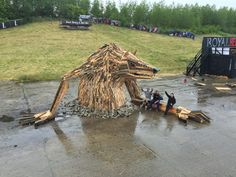 Giant Sculptures From Scrap Wood - Thomas Dambo, Denmark