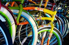 Bicycles---> Healthy, environmentally friendly, and cheap methods of transportation.