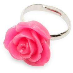 Pop Cutie Rose ring found on Polyvore