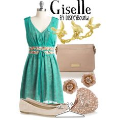 Giselle (from Enchanted) Inspired Outfit by DisneyBound! So Pretty! Disney Themed Outfits, Disney Bound Outfits, Disney Dresses, Disney Clothes, Disney Inspired Fashion, Disney Fashion, High Fashion, Simply Fashion, Women's Fashion