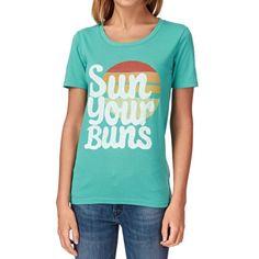Billabong T-shirts - Billabong Neptunea T-shirt - Mediterranean :: Women > T-Shirts. Screen print to front Scoop neckline Material: 100% Cotton Women's short-sleeved t-shirt