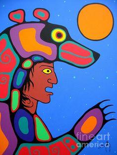 Bear Sky Art Print by Jim Oskineegish Native Art, Native American Art, American Modern, Thing 1, Diy Artwork, Sky Painting, Sky Art, Indigenous Art, Aboriginal Art