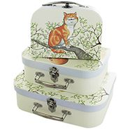 Alice In Wonderland Storage Suitcases - Set Of 3