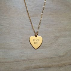F Off Heart Necklace $52