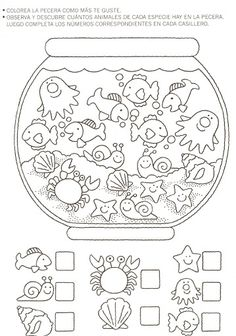Crafts,Actvities and Worksheets for Preschool,Toddler and Kindergarten.Lots of worksheets and coloring pages. Preschool Learning, Kindergarten Worksheets, Preschool Activities, Teaching, Number Worksheets, Math For Kids, Crafts For Kids, Kids Education, Montessori