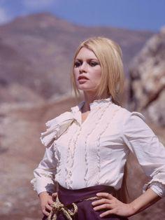 "Brigitte Bardot filming ""Shalako, 1968"
