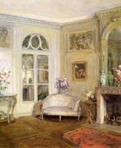 "Walter Gay (American, 1856-1937)  ""Salon, Pavillon Colombe'"