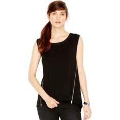 RACHEL Rachel Roy Sleeveless Zipper Detail Top Sold out. Black RACHEL Rachel Roy Tops Tees - Short Sleeve