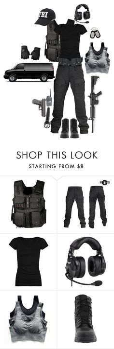 """""""F.B.I."""" by gone-girl ❤ liked on Polyvore featuring Swat, Full Tilt, Maglite, Bates and Ultimate"""