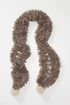 My new obsession - scarves. Fronded Pom Scarf from Anthropologie.