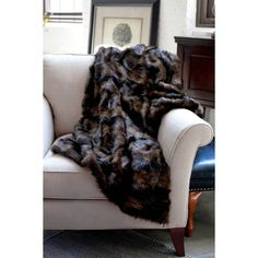 Woven Workz Faux Mink Fur Throw - Chocolate ($90) ❤ liked on Polyvore featuring home, bed & bath, bedding, blankets, chocolate, textured bedding, faux mink throw blanket, textured blanket, faux mink blanket and fur blanket throw