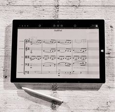 Inspired by the Surface and designed specifically for the Surface - StaffPad gives users a new and intuitive way to write music digitally. Image via http://blog.surface.com/2015/03/staffpad-and-surface-the-most-natural-and-fluid-way-to-write-music-digitally/