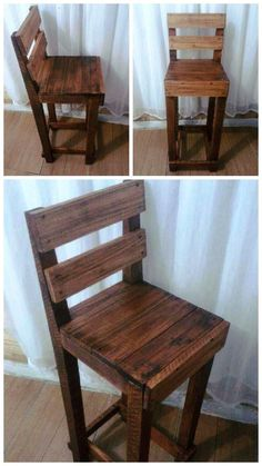 Pallet Chair - 10 Rustic Pallet Creations for DIY Home Decor 101 Pallets Wooden Pallet Crafts, Pallet Home Decor, Diy Rustic Decor, Wooden Pallet Furniture, Diy Pallet Projects, Rustic Furniture, Wood Pallets, Wood Projects, Diy Furniture