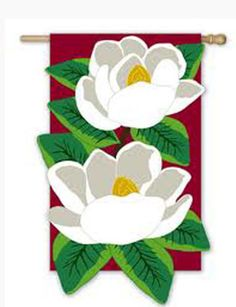 Evergreen Garden flag MAGNOLIA MAJESTY 12.5x18 Applique DBLE SIDED spring