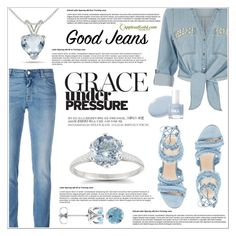 """""""All Denim Style"""" by applesofgoldjewelry ❤ liked on Polyvore featuring Givenchy, River Island, Apples of Gold and vintage"""