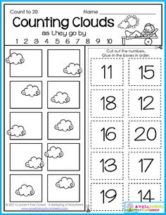 counting worksheets, kindergarten worksheets, summer math worksheets, worksheets for kindergarten Counting Worksheets For Kindergarten, Graphing Worksheets, Alphabet Tracing Worksheets, Counting For Kids, Writing Lines, Upper And Lowercase Letters, Numbers For Kids, Learn To Count, Learning