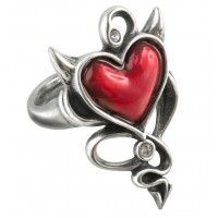 Devil Heart Pewter Ring