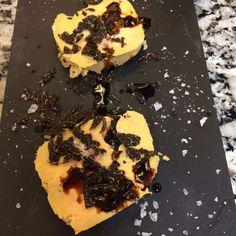 Foie micuit con trufa y mandarina. Drinks, Desserts, Food, Truffles, Entrees, Preserves, Drinking, Beverages, Meal