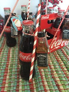 Jack Daniel's and Coke Christmas gift under $4.00! Great for coworkers, book club, etc.