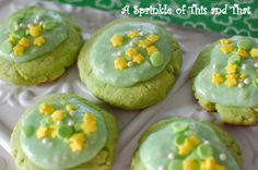 A    Sprinkle    of    This    and    That: St. Patrick's Day Lime Jello Cookies with Key Lime...