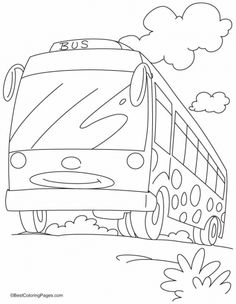 Smart Bus For Smart Travellers Coloring Pages | Download Free Smart Bus For  Smart Travellers Coloring Pages For Kids | Best Coloring Pages