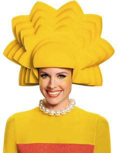The Simpsons: Lisa Foam Wig For Women from Buycostumes.com