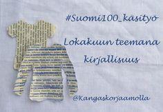 Lokakuun #suomi100_käsityö teemana kieli ja kirjallisuus