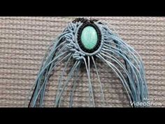 Handmade necklace with stone Macrame - YouTube