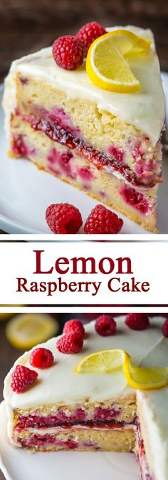 Lemon Raspberry Cake - House Recipes & Home Decor Just Desserts, Delicious Desserts, Yummy Food, Raspberry Desserts, Raspberry Cake Recipe Easy, Lemon Raspberry Cheesecake, Baking Recipes, Cake Recipes, Dessert Recipes