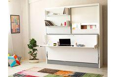 DİVA AKADEMİ MODELİ Tek kişilik yatay açılır hareketli yatak, sürgülü gardıroplar ve 2 metre genişliğinde çalışma masası fonksiyonları ile kompakt bir çalışma istasyonu. Özel mekanizması sayesinde masa üstünde bulunan eşyalar açılıp kapanma sırasında sabit kalır. İç yatak ölçüsü : 90 cm x 190 cm x 18 cm