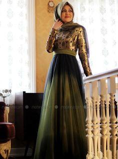 Damla Evening Dress - Green - Gamze Polat
