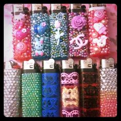Bedazzled lighters!  Various styles! These are bedazzled lighters- I can custom make one for you.  Just lmk what you're interested in and I can totally hook it up for you. Accessories